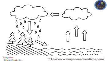 El ciclo del agua para niños - Imagenes Educativas