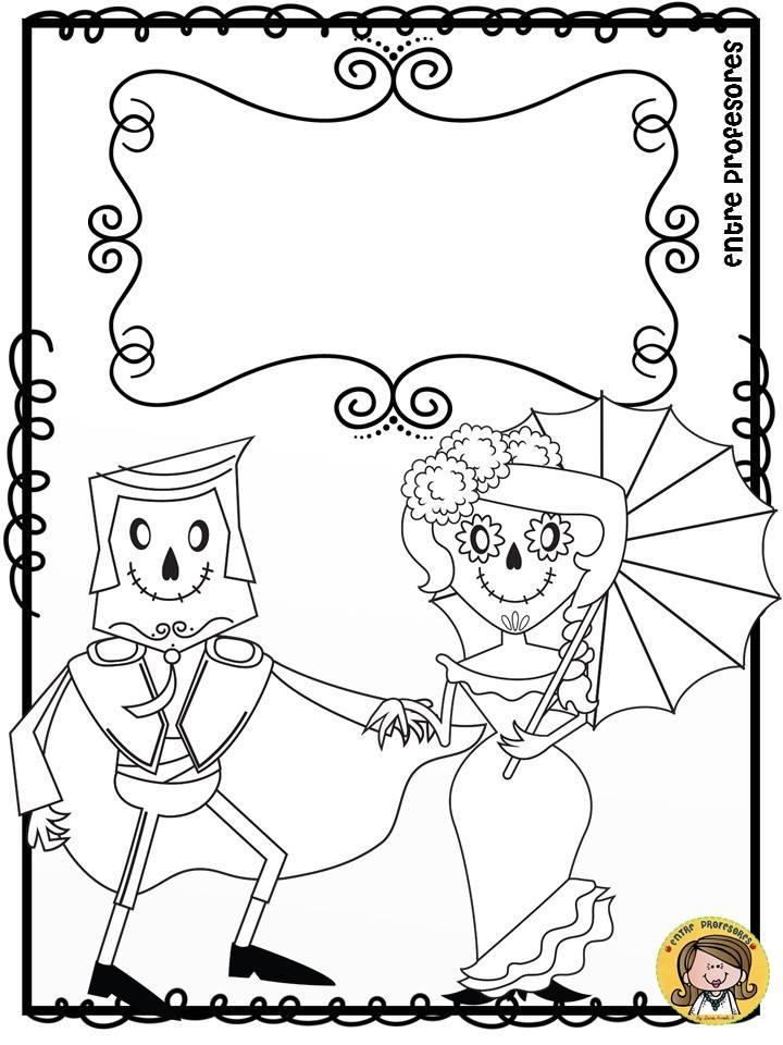 Dibujos Para Colorear El Dia De Los Muertos 6 Imagenes Educativas