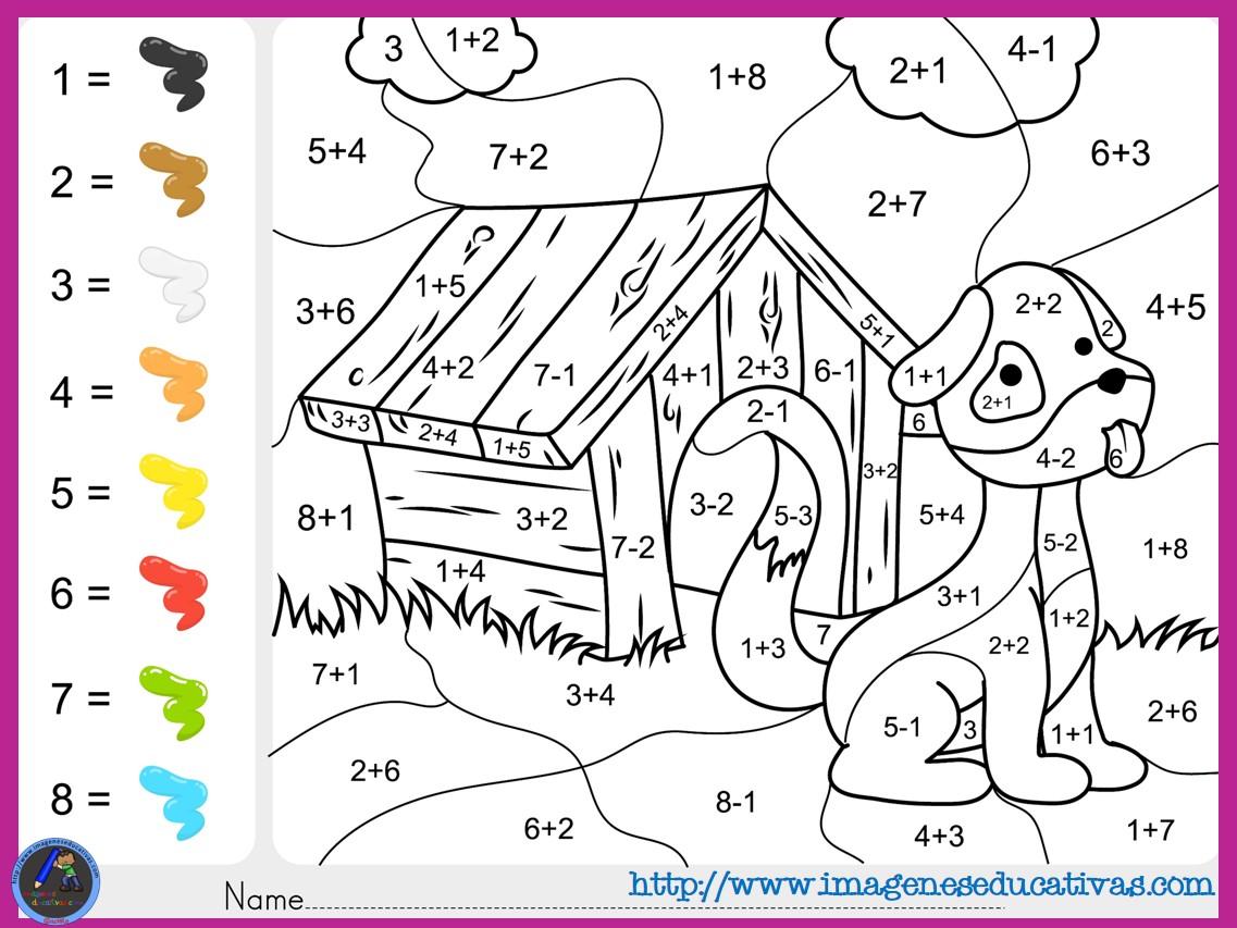 Fichas-de-matematicas-para-sumar-y-colorear-dibujo-5