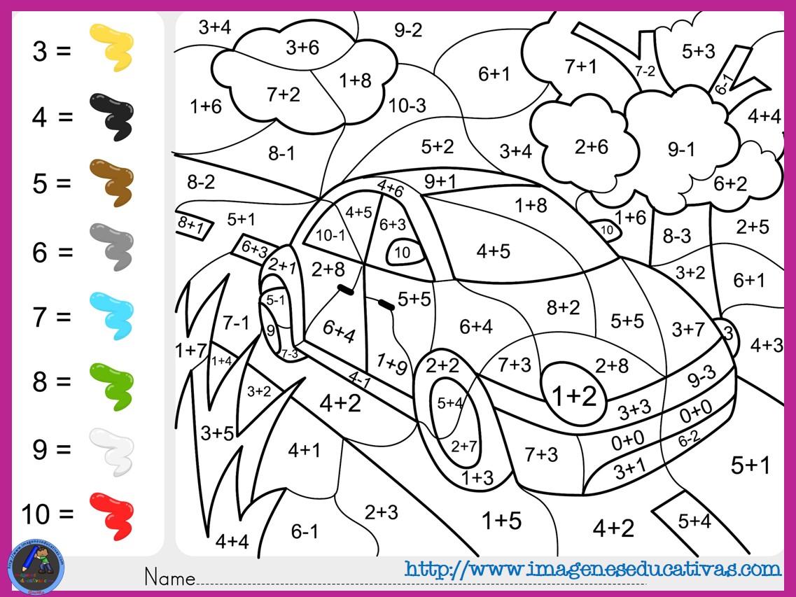 Dibujos Para Pintar Numeros Del 1 Al 10 Colorear Los Números