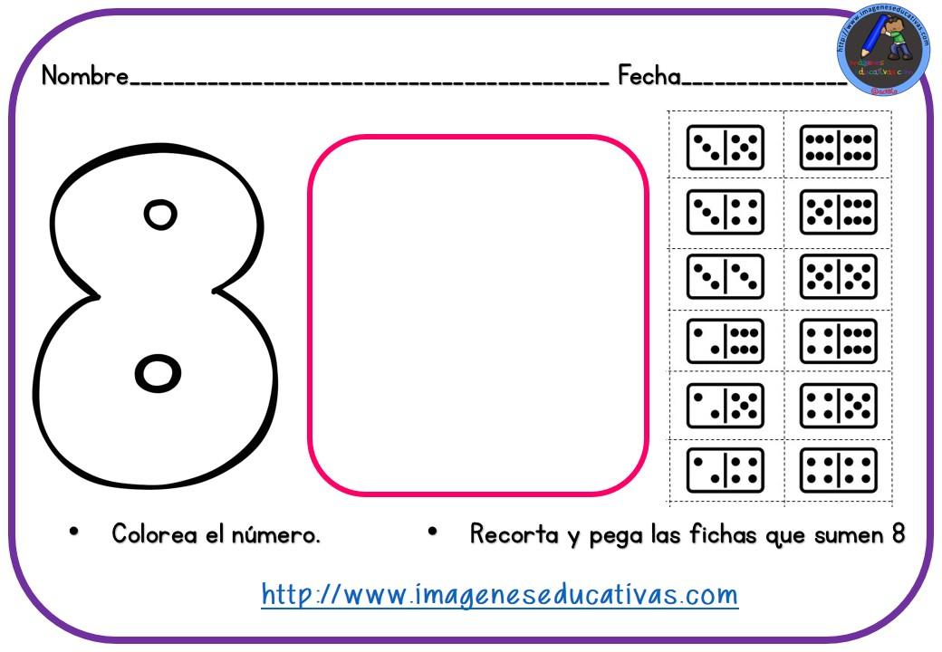Fichas para trabajar números y dominó para recortar (9) - Imagenes ...