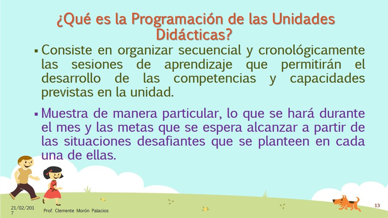 La Planificación Curricular, con el Currículo Nacional 2017 (13 ...