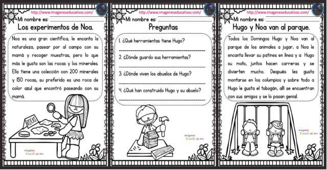 Lecturas Comprensivas Para Primaria Nuevas Y Originales Imagenes Educativas