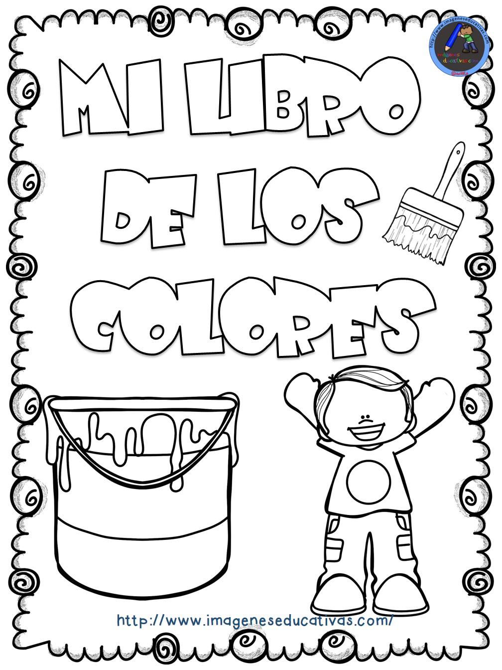 Mi libro de los colores para colorear 1 imagenes educativas - Colores para pintar una entrada ...