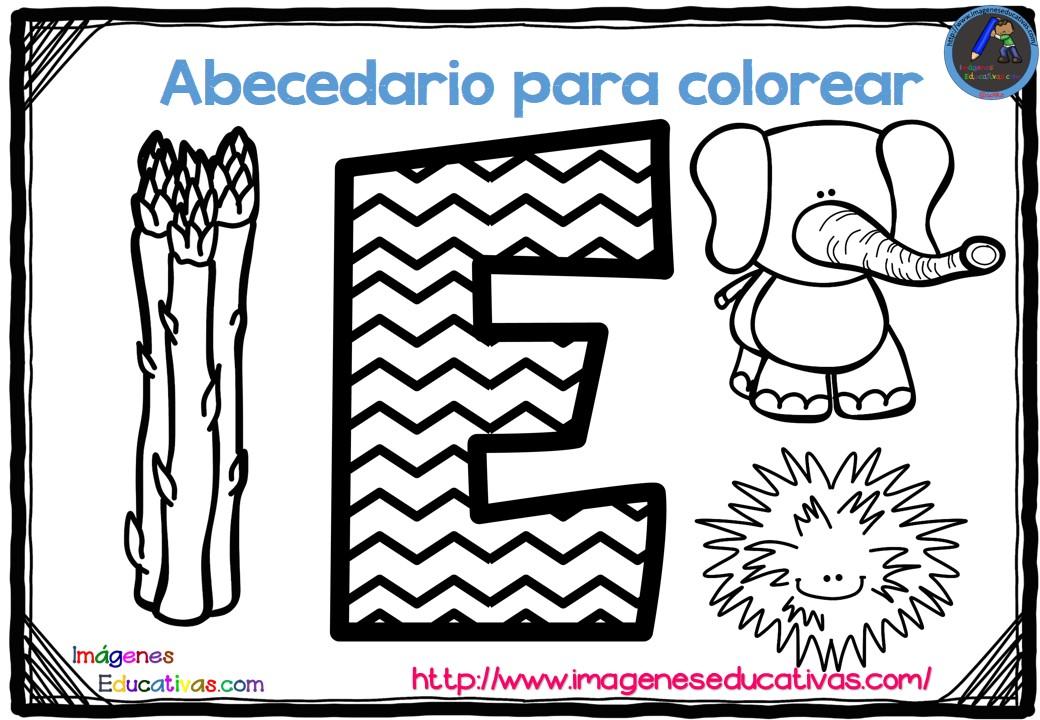 Imagenes Para Colorear De Español: Abecedario Para Colorear Listo Para Descargar E Imprimir