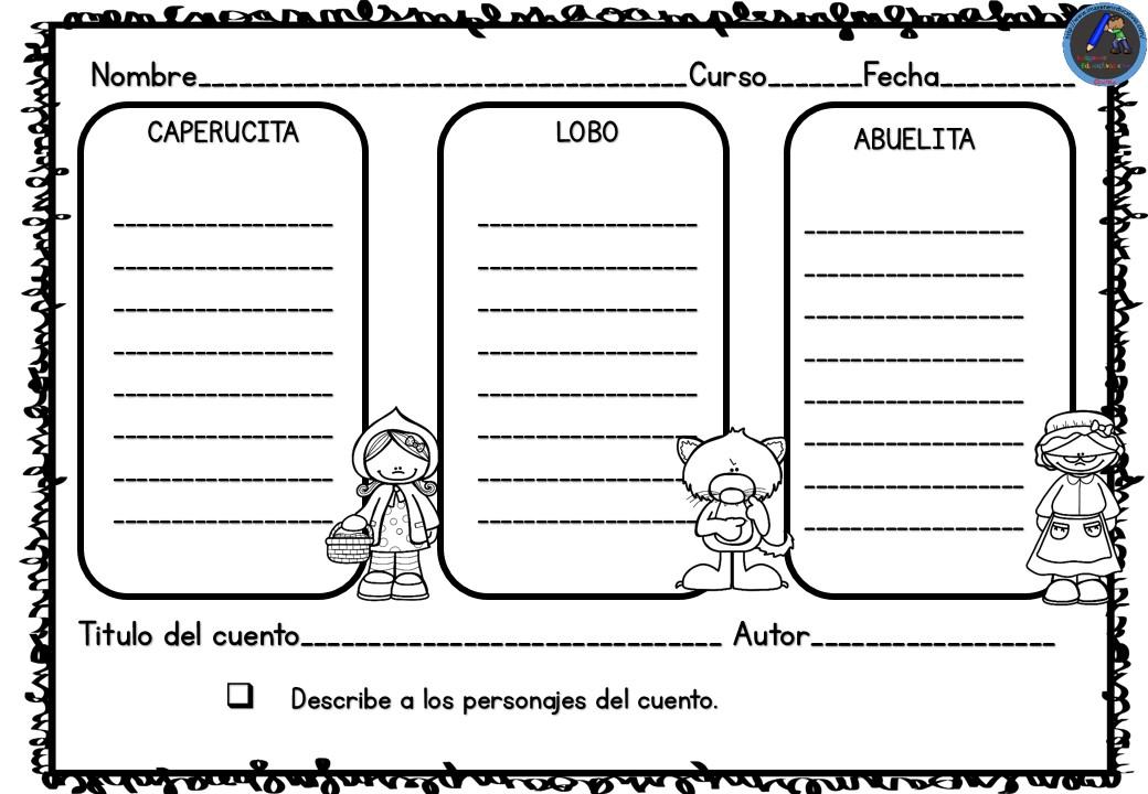 CAPERUCITA ROJA Fichas de Comprensión Lectora (3 ...