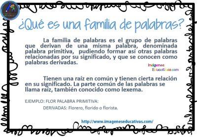 La Familia De Las Palabras Imagenes Educativas