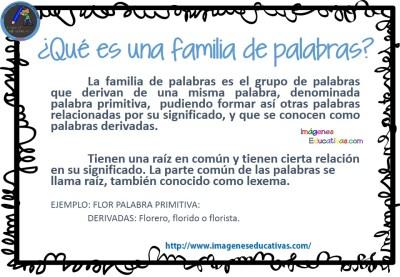La familia de las palabras imagenes educativas for Concepto de familia pdf