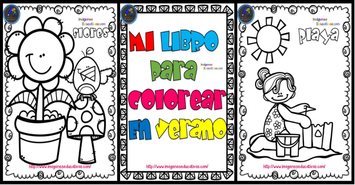 Mi libro para colorear en verano - Imagenes Educativas