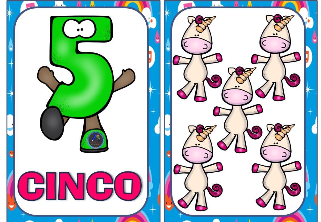 Numero 10 Con Imagenes: TARJETAS NÚMEROS UNICORNIOS (7)