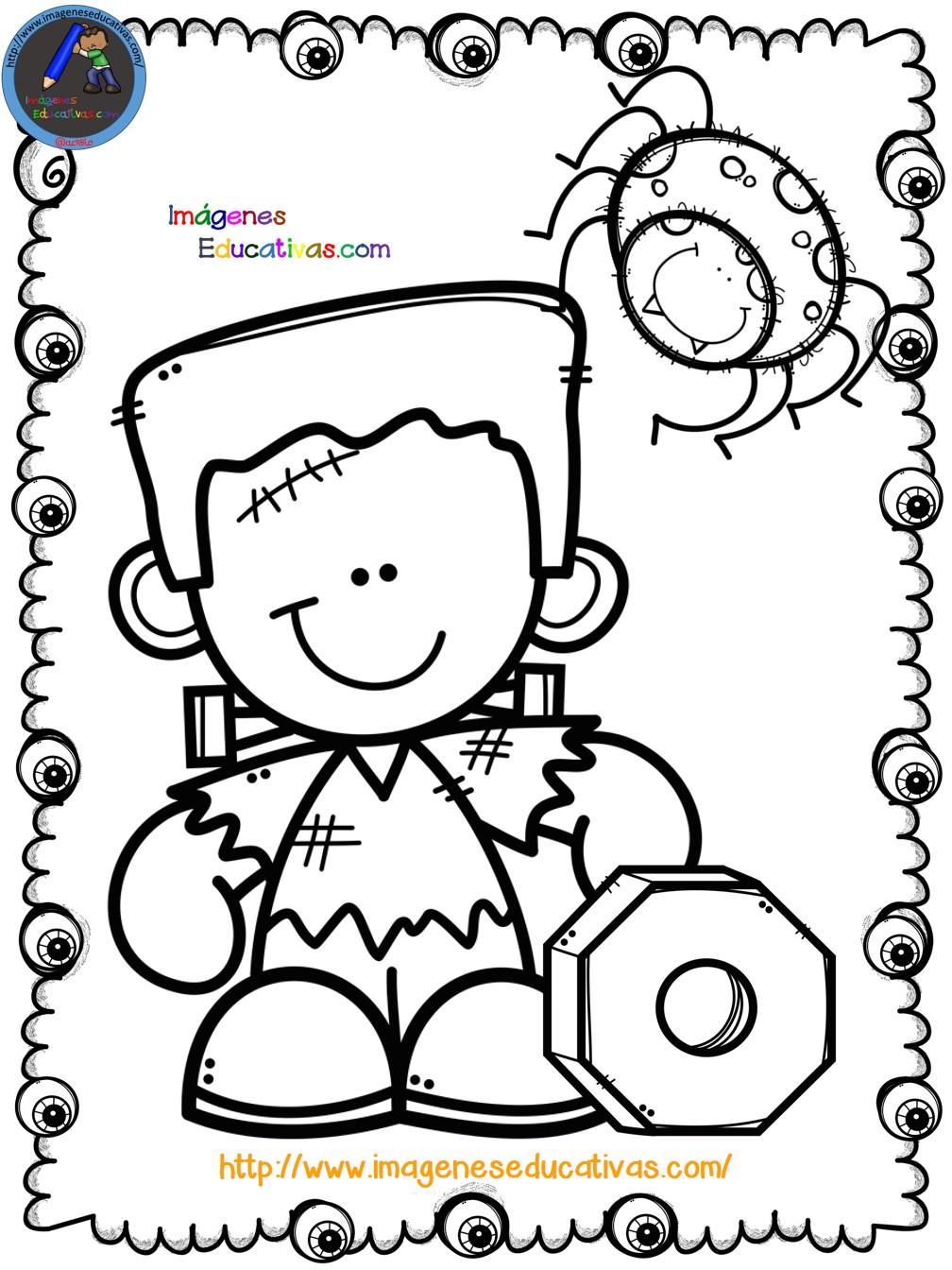Mi libro para colorear en Halloween (5) - Imagenes Educativas