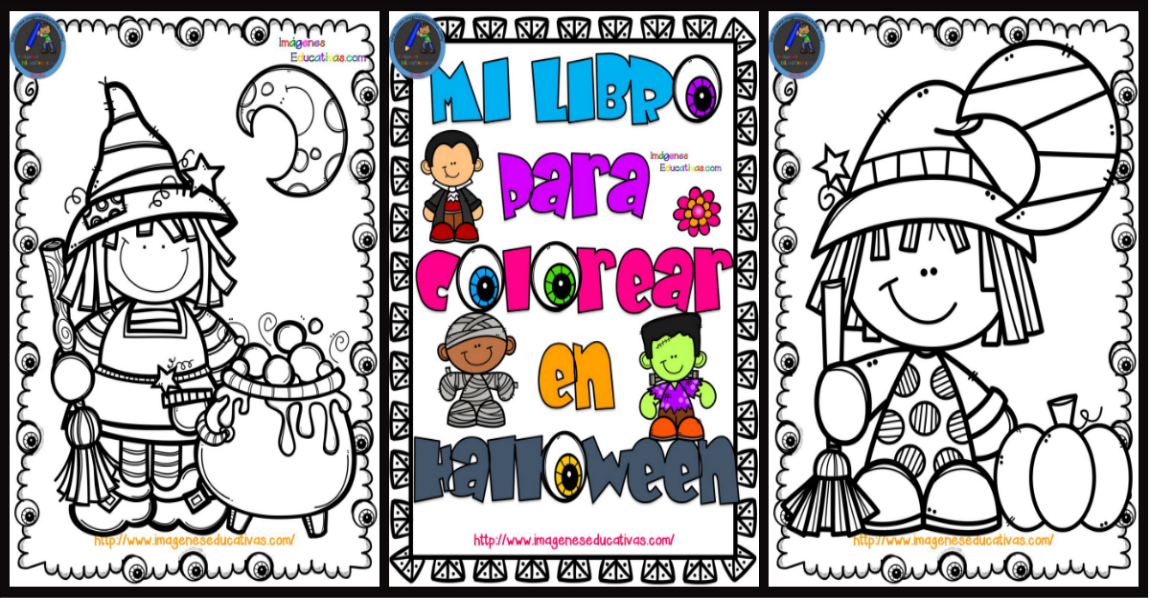 Librito Para Colorear En Halloween Imagenes Educativas