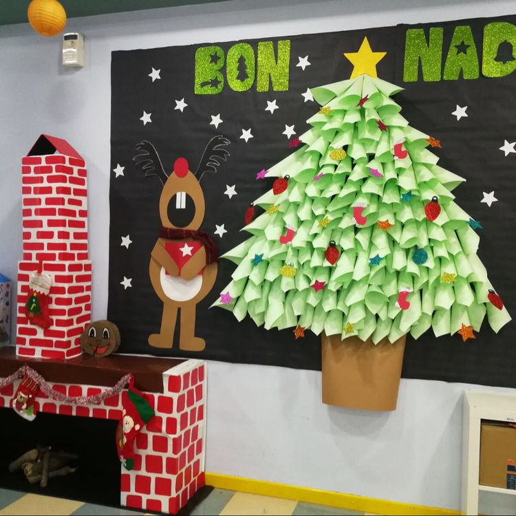 Puertas navidad 12 imagenes educativas for Ideas para decorar puertas para navidad