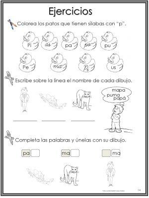 50 Ejercicios De Lecto Escritura Para Preescolar Y Primaria