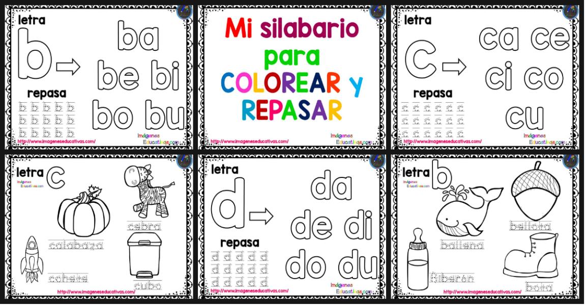 Mi silabario para COLOREAR y REPASAR - Imagenes Educativas