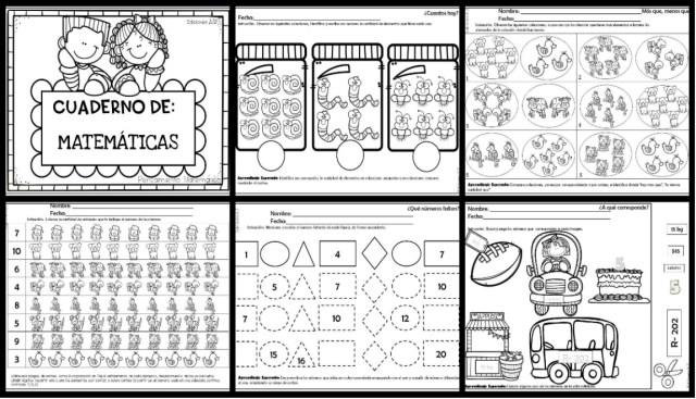 Cuaderno Para Desarrollar El Pensamiento Matemático 60 Paginas Imagenes Educativas