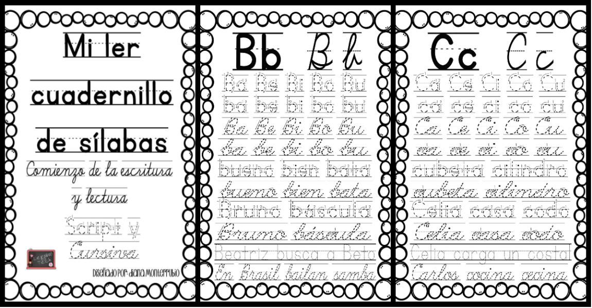 Silaba Dibujo: Mi Primer Cuadernillo De Sílabas