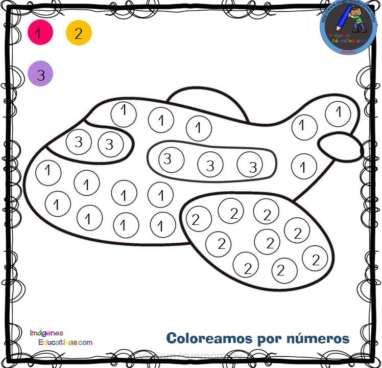 Fichas Para Colorear Por Letras Números Y Símbolos 5 Imagenes