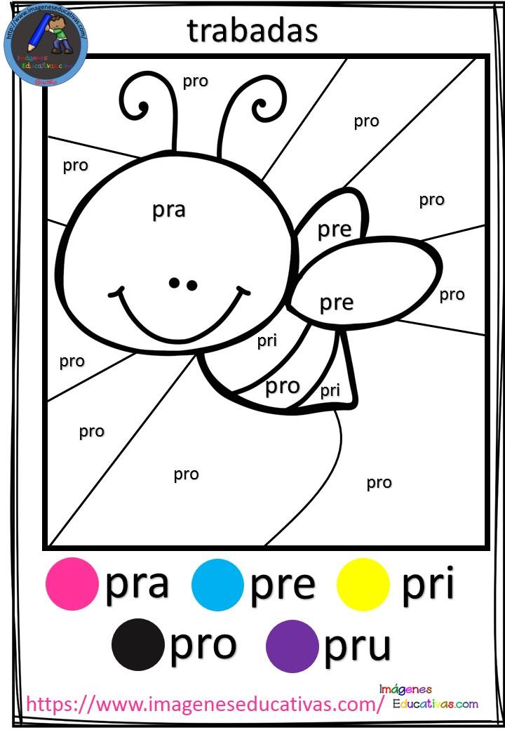 Fichas para colorear por trabadas (5) - Imagenes Educativas