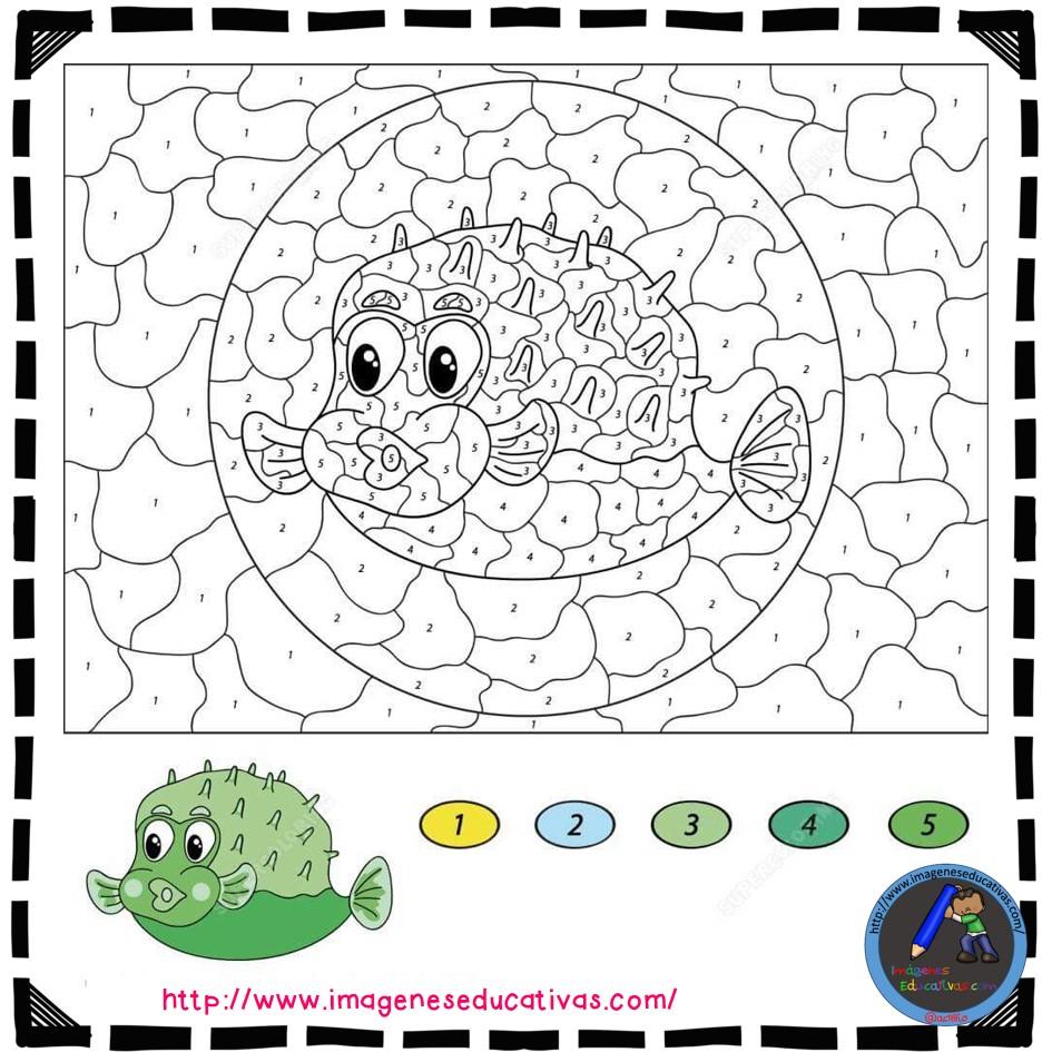 Colorear por números (19) - Imagenes Educativas