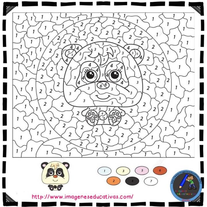 Fichas Para Colorear Por Numeros Imagenes Educativas