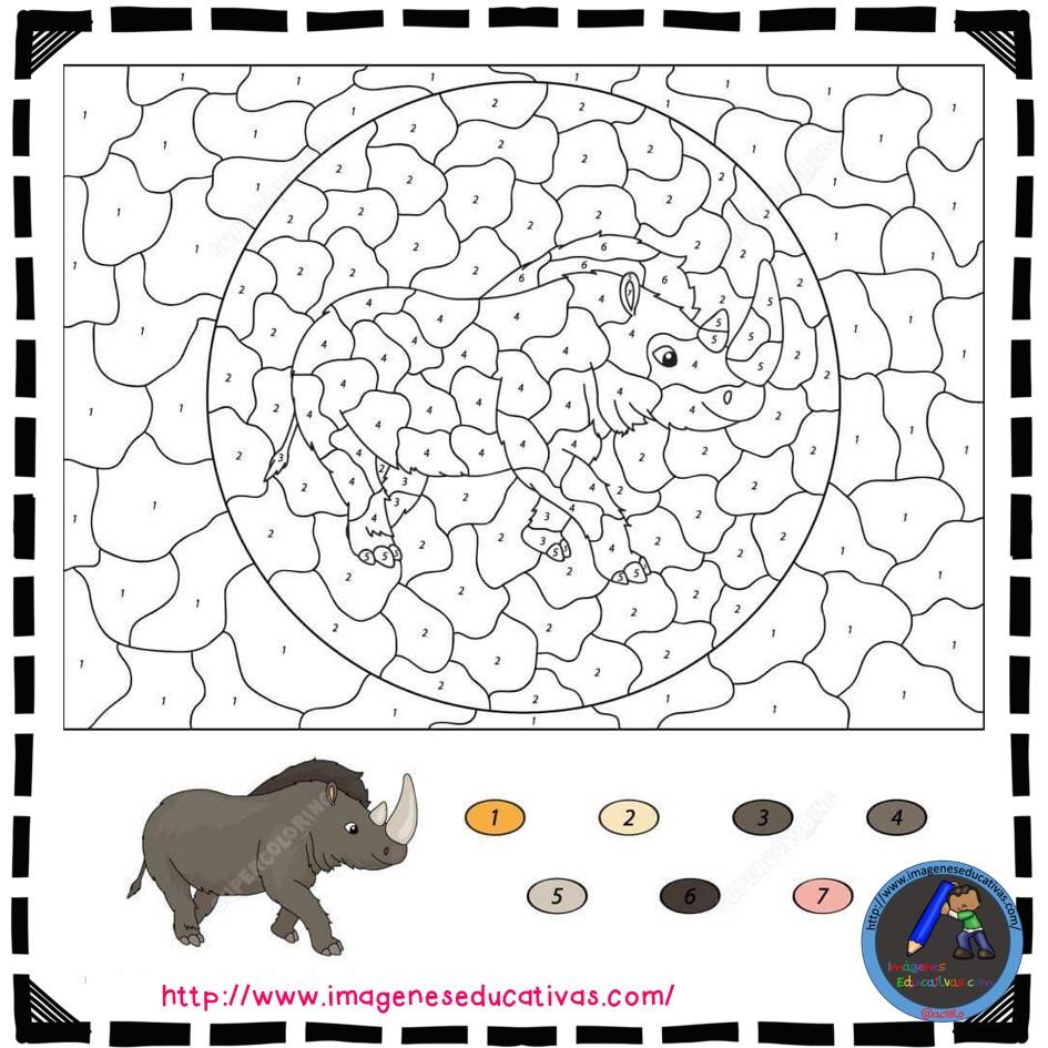 Colorear por números (3) - Imagenes Educativas