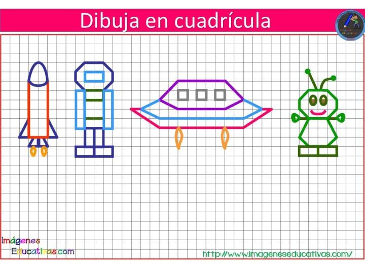 Dibujos Con Cuadrícula Para Niños Imagenes Educativas