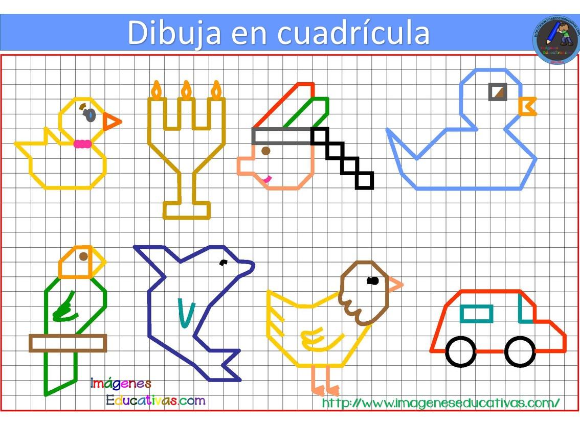 Dibujos Colorear Ninos 4 Anos: Dibujos Con Cuadrícula Para Niños (4)