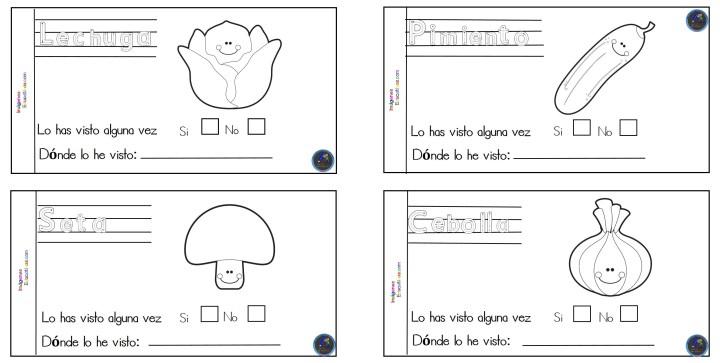 Mini Cuaderno Para Colorear Frutas Y Verduras Imagenes