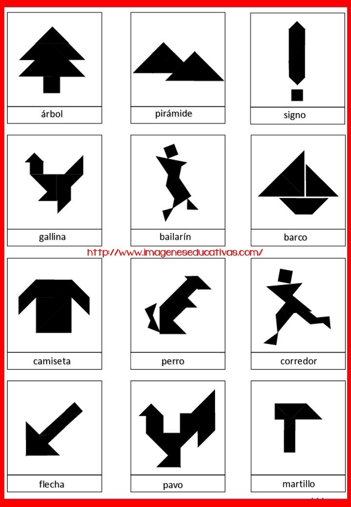 Tangram Figuras para imprimir plantillas incluidas - Imagenes ...