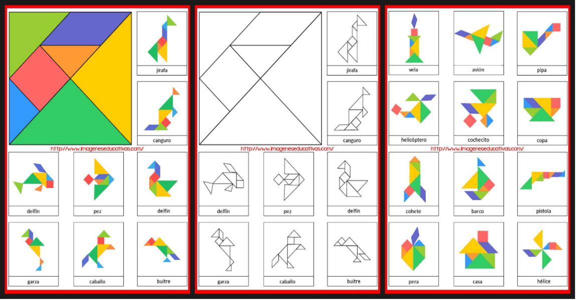 Tangram Figuras para imprimir plantillas incluidas - Imagenes Educativas