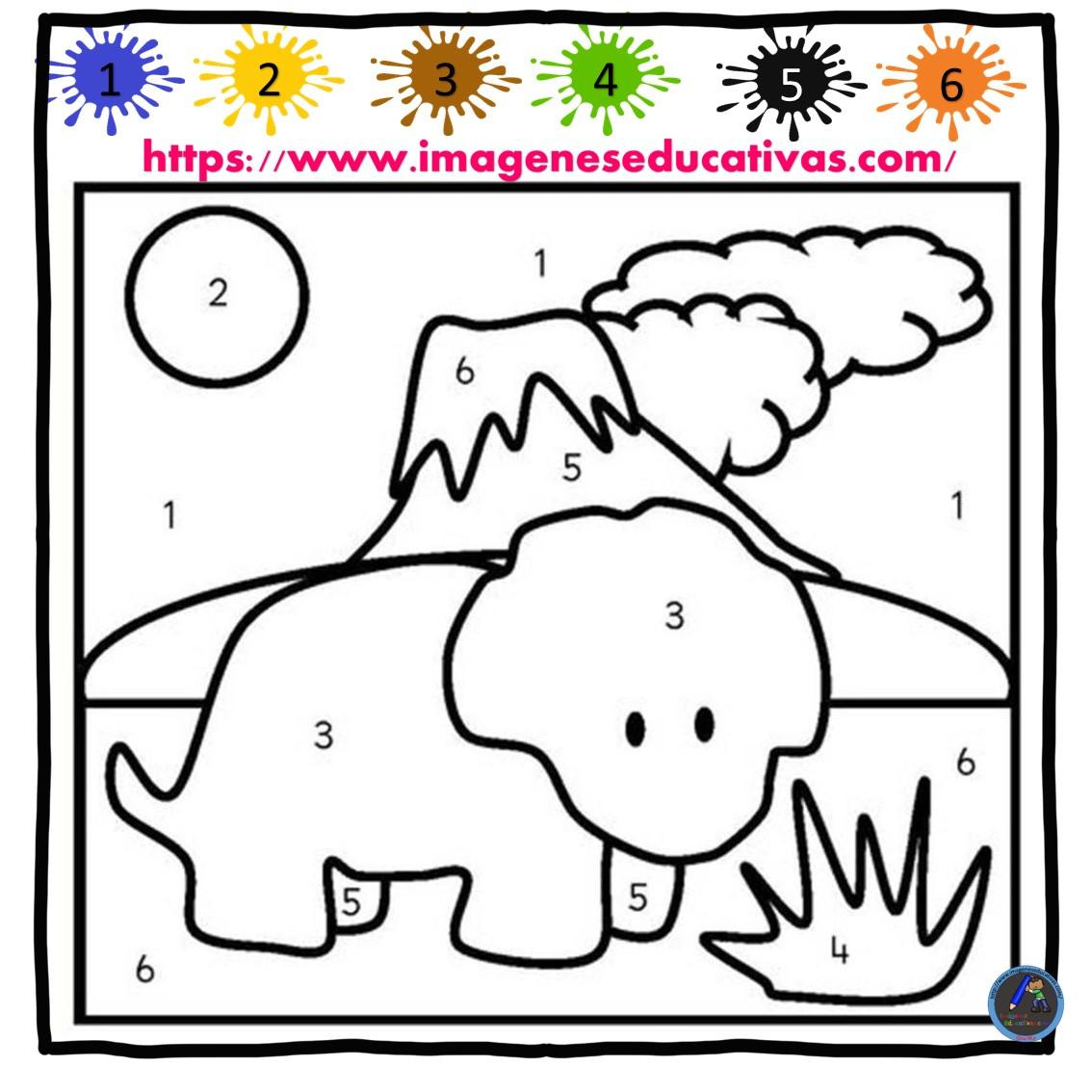 Colorea por números (4) - Imagenes Educativas