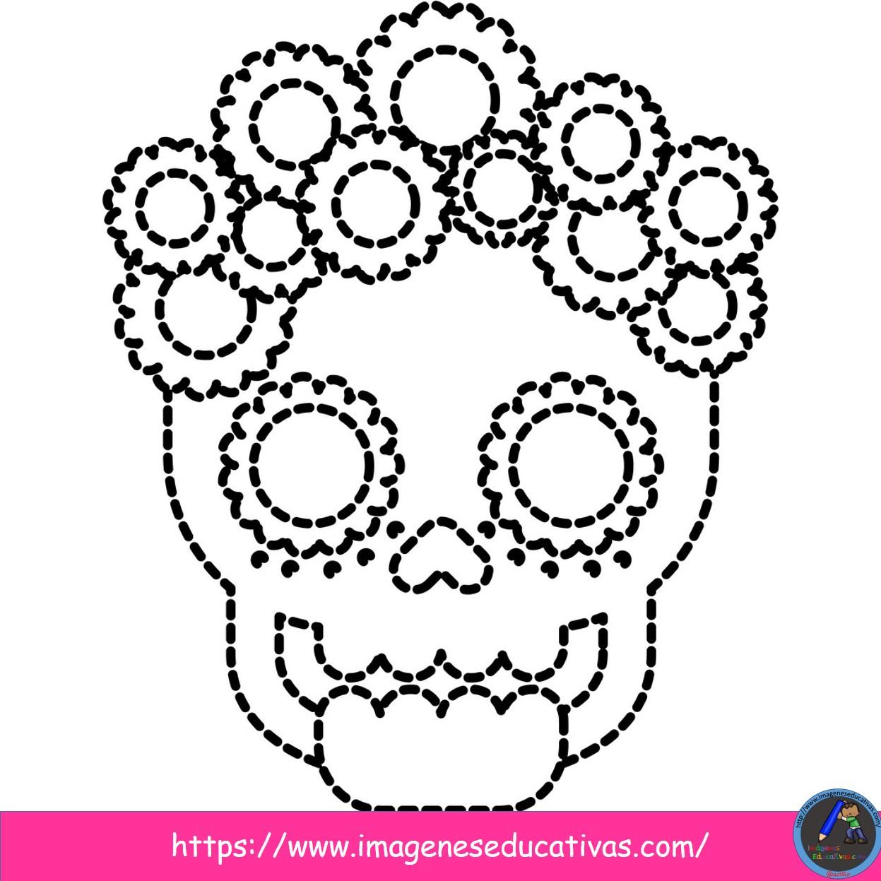 25 Mándalas Para Colorear El Día De Muertos 15 Imagenes