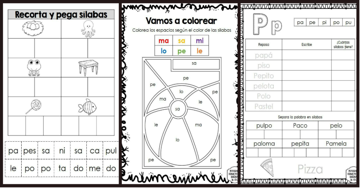 Fichas Aprendiendo Las Sílabas Imagenes Educativas