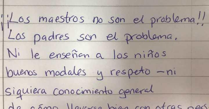 La carta del profesor jubilado es aplaudida por muchas personas ...