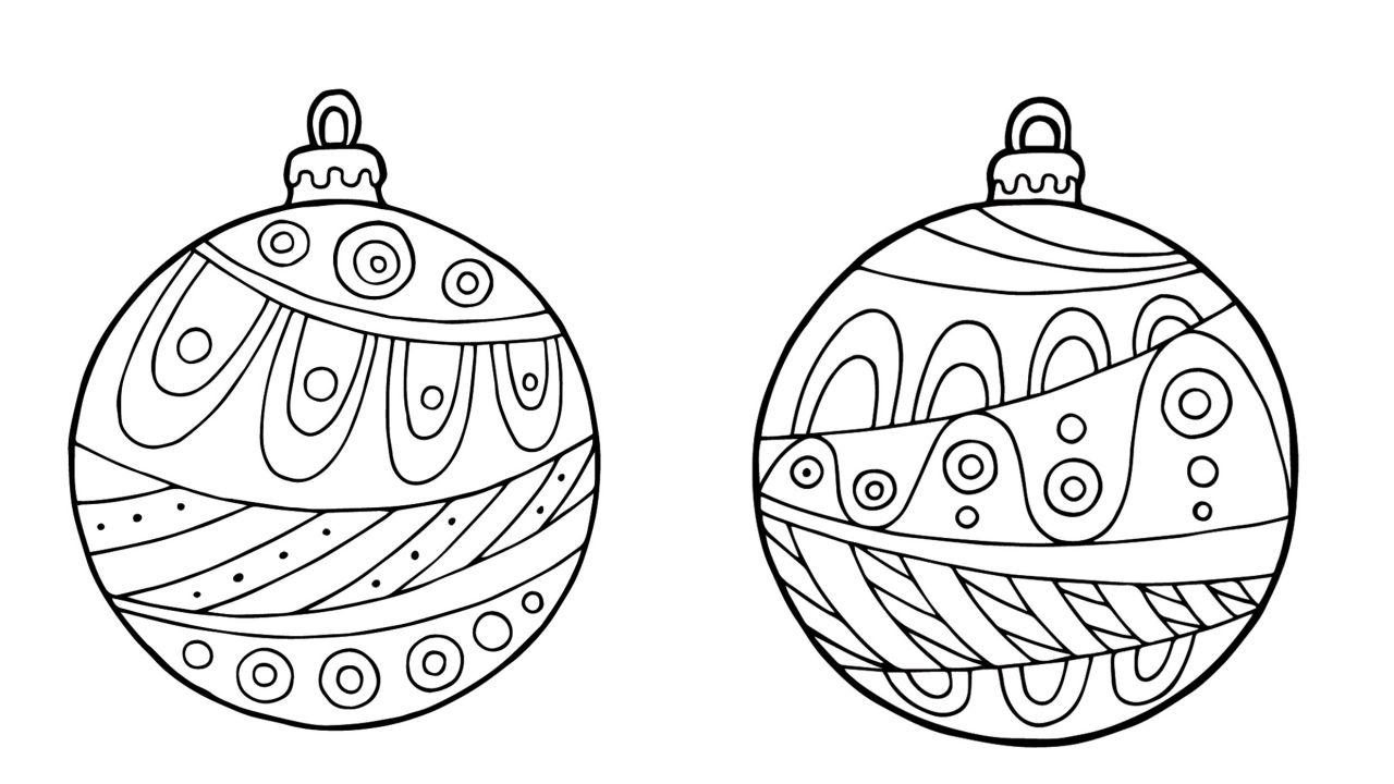 Bolas De Navidad Dibujos Para Colorear.Divertidas Bolas De Navidad Para Imprimir Y Colorear