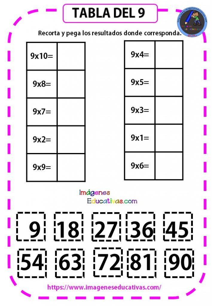 Cuadernillo de las tablas de multiplicar -Orientacion Andujar