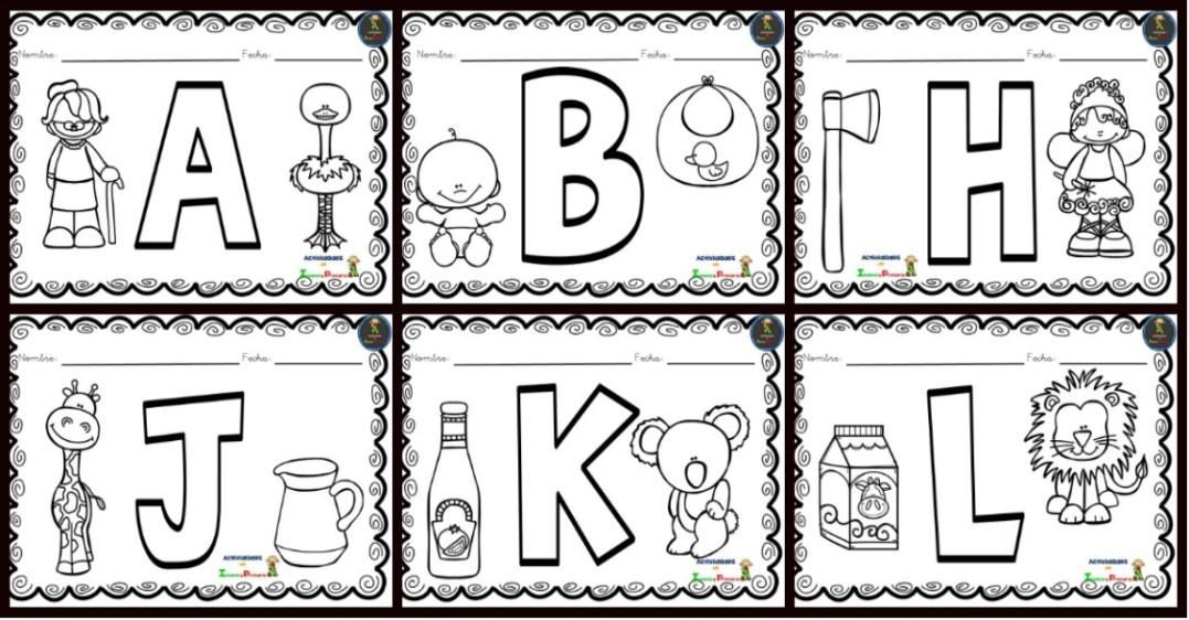 Dibujos Para Colorear Pre Kinder Dibujos Para Pintar Vocales