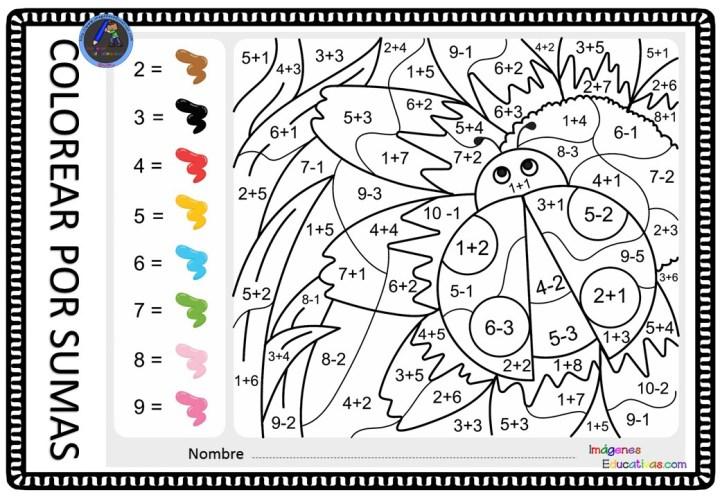 Colorea Por Sumas Y Restas Imagenes Educativas