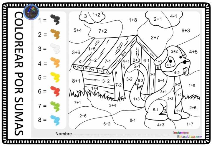 Dibujos De Sumas Y Restas Para Colorear E Imprimir