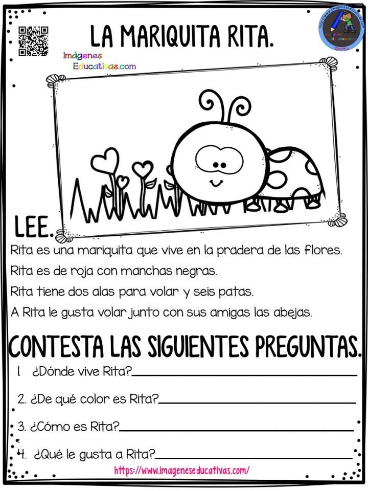 Ejercicios De Comprensión De Lectura Para Niños De Primaria Aprendo A Leer Imagenes Educativas