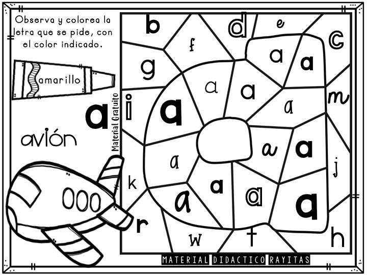 Las Vocales Dibujalia Dibujos Para Colorear Numeros Letras