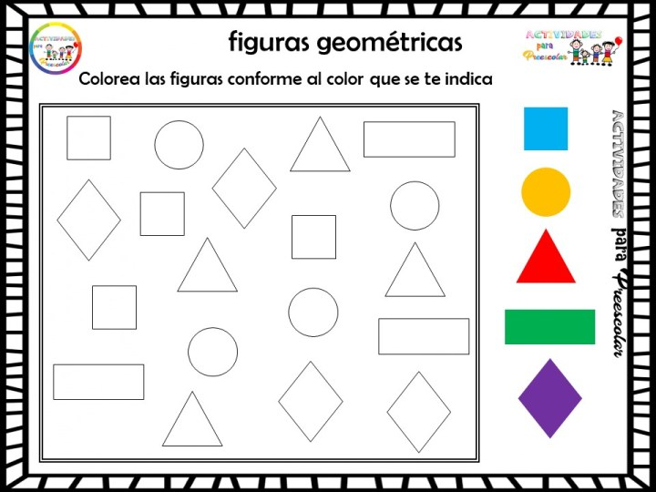 Fichas Para Trabajar Las Figuras Geometricas Imagenes Educativas