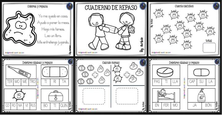 Cuaderno De Repaso Cuarentena Imagenes Educativas