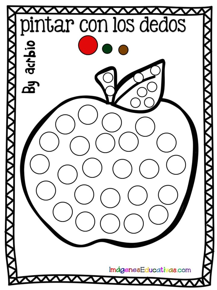 Fichas Para Pintar Con Los Dedos Frutas Imagenes Educativas