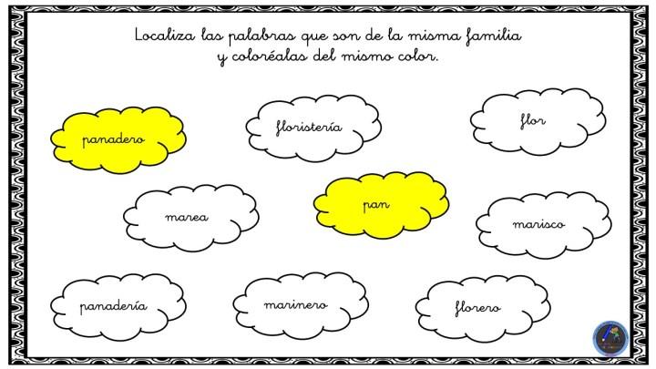 Familia Léxica Colorea Las Palabras De La Misma Familia Imagenes Educativas