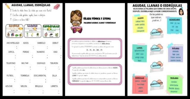 Fichas Para Trabajar Agudas Llanas Y Esdrújulas Imagenes Educativas