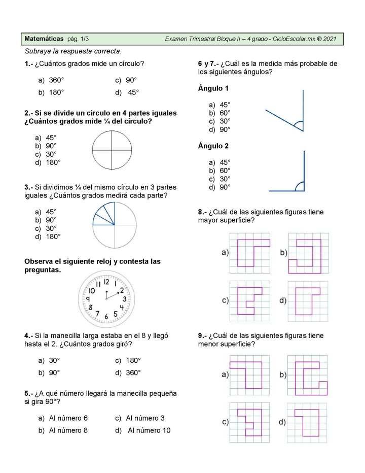 Preguntas Y Respuetas Para El Examen Trimestral Bloque Ii Grado 3º Y 4º 2021 Imagenes Educativas