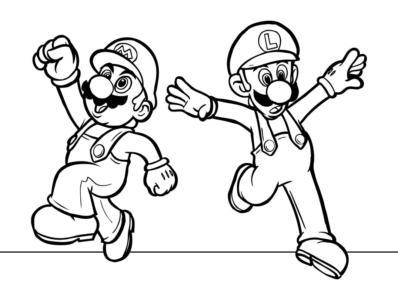 Mario Bros Para Colorear