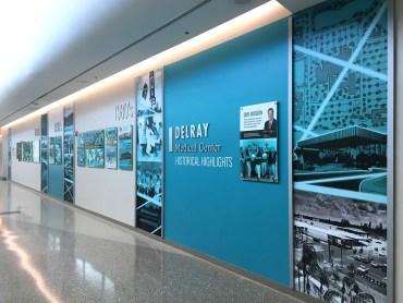 Delray Medical Center, FL – History Wall